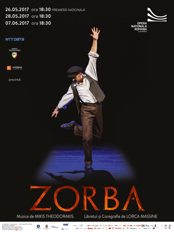 Afis ZORBA - Premiera nationala 2017